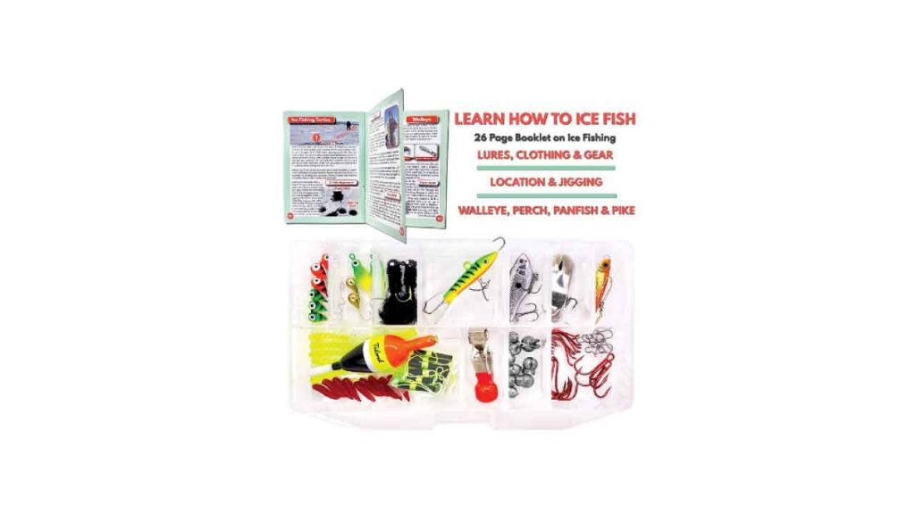 4 Tailored Tackle Ice Fishing Jigs Lures Kit