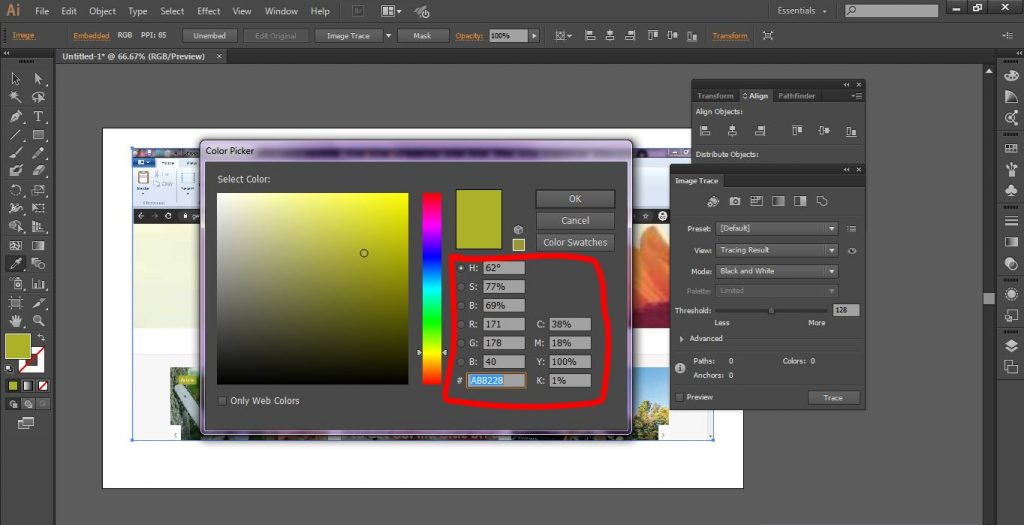 How to Find Color Code in Illustrator