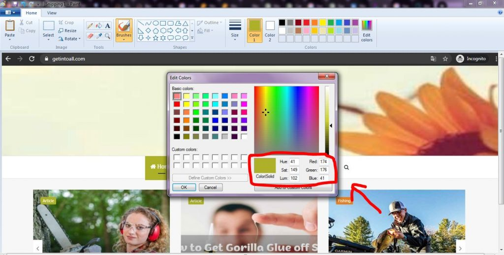 How to Find Color Code in Paint